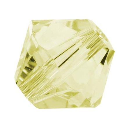 Swarovski Crystal, #5328 Bicone Beads 4mm, 24 Pieces, Jonquil Yellow