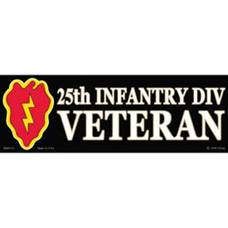 25th Infantry Div. Proudly Served Bumper Sticker