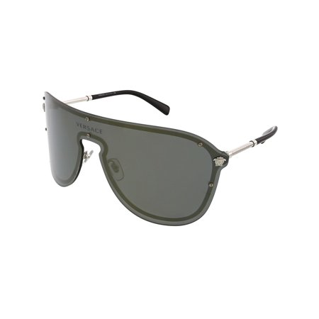 Versace Women's VE2180-10005A-44 Grey Shield Sunglasses
