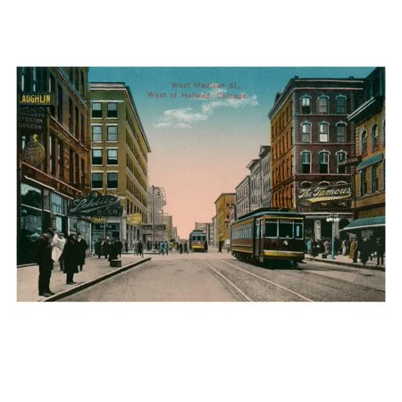 West Madison Street, Chicago, Illiniois Print Wall Art](Party City Madison West)