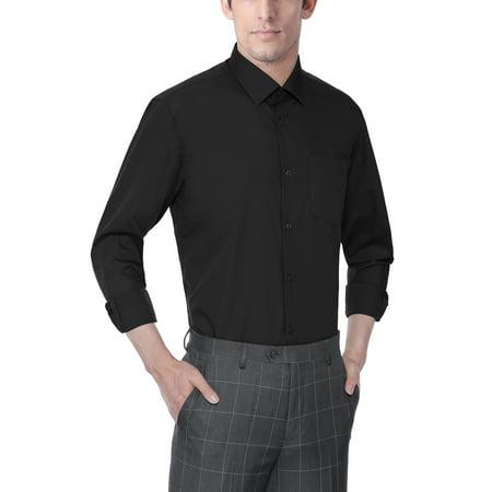 Men's Classic Fashion Fit Long Sleeve Dress Shirt