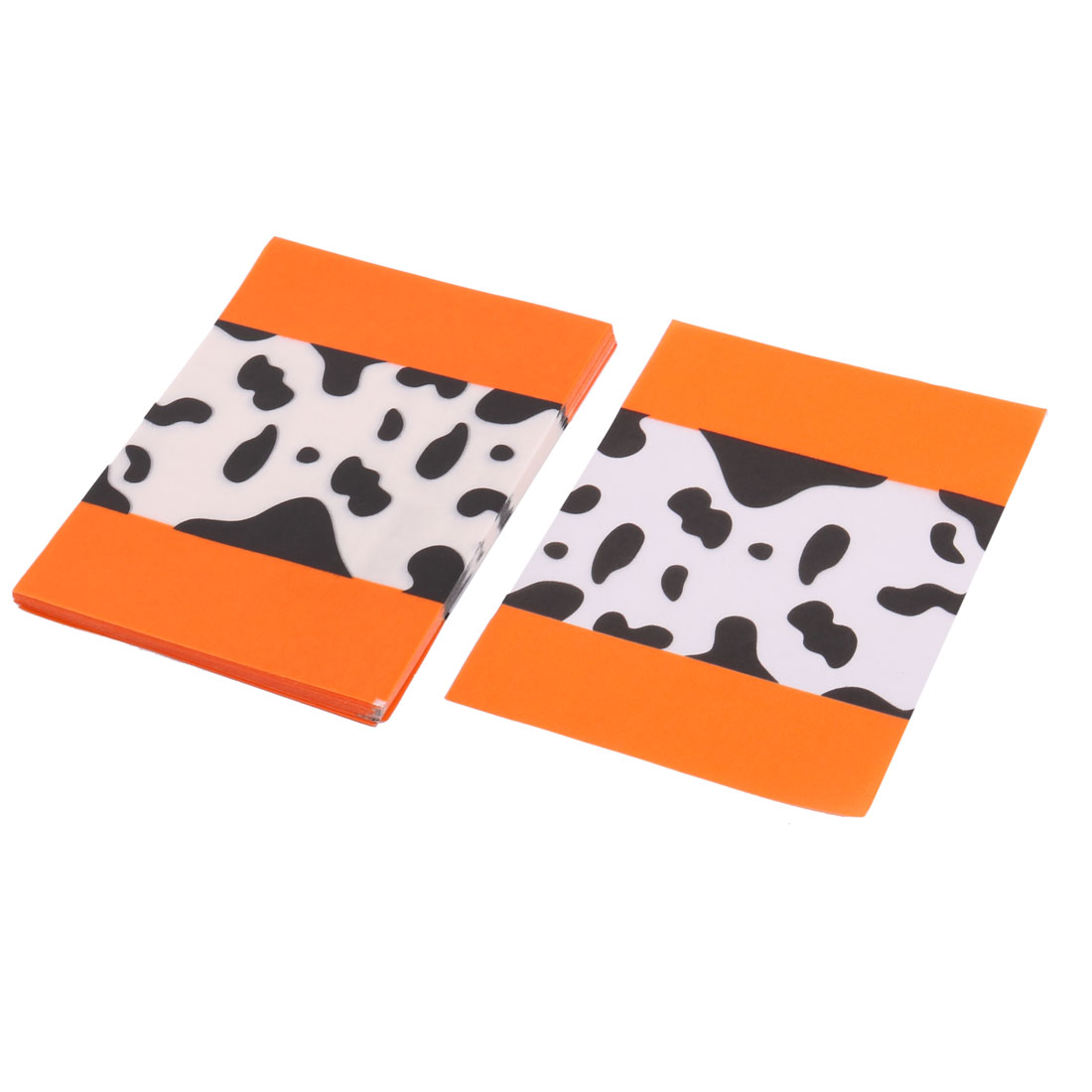 Festival Washi Paper Cookie Chocolate Holder Wrapping Wrapper Orange 100pcs