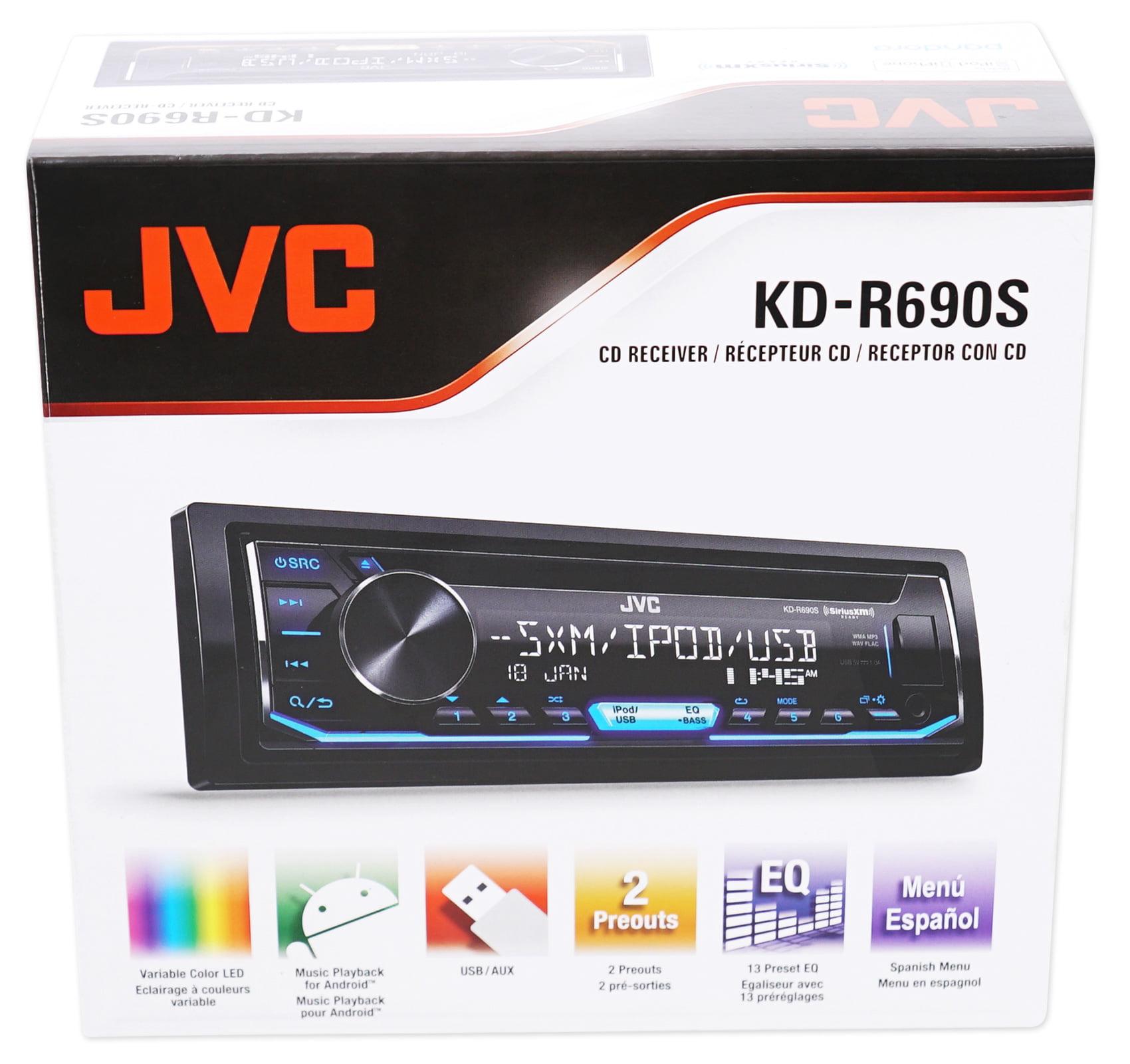 JVC KD-R690S 1-Din Car CD Receiver Stereo iPod Iheart Radio USB+ ...