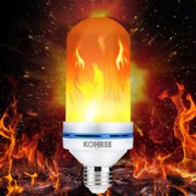 Kohree LED Flame Effect Light Bulb, E26 LED Flickering Flame Light Bulbs, LED Beads Simulated Decorative Light Bulb