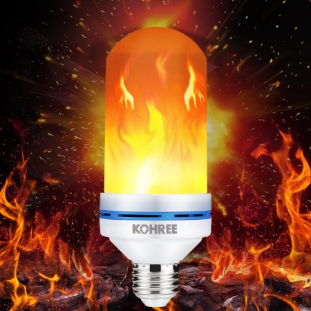 Led Flame Effect.Kohree Led Flame Effect Light Bulb E26 Led Flickering Flame Light Bulbs Led Beads Simulated Decorative Light Bulb