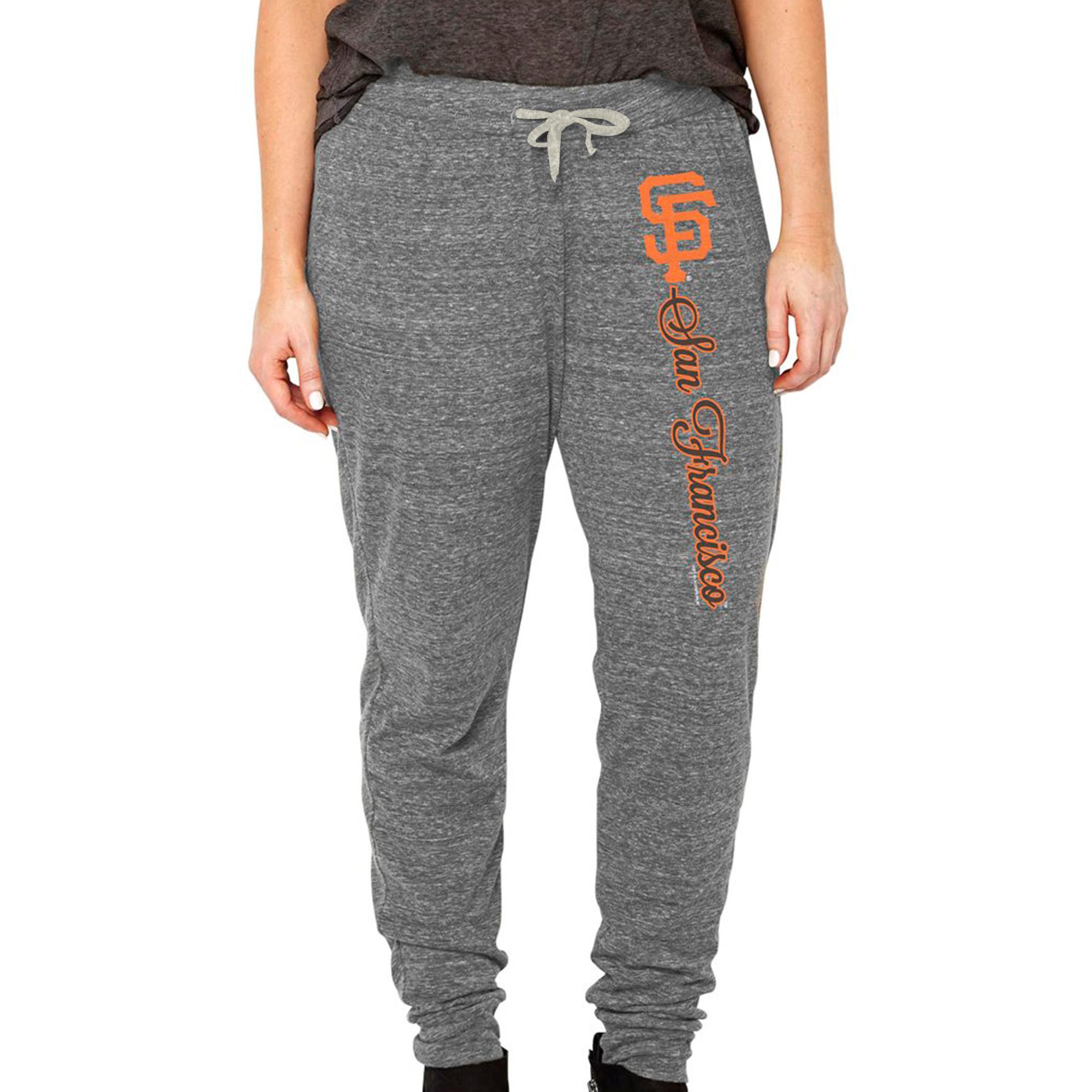 San Francisco Giants Soft as a Grape Women's Plus Size Jogger Pants - Heathered Gray
