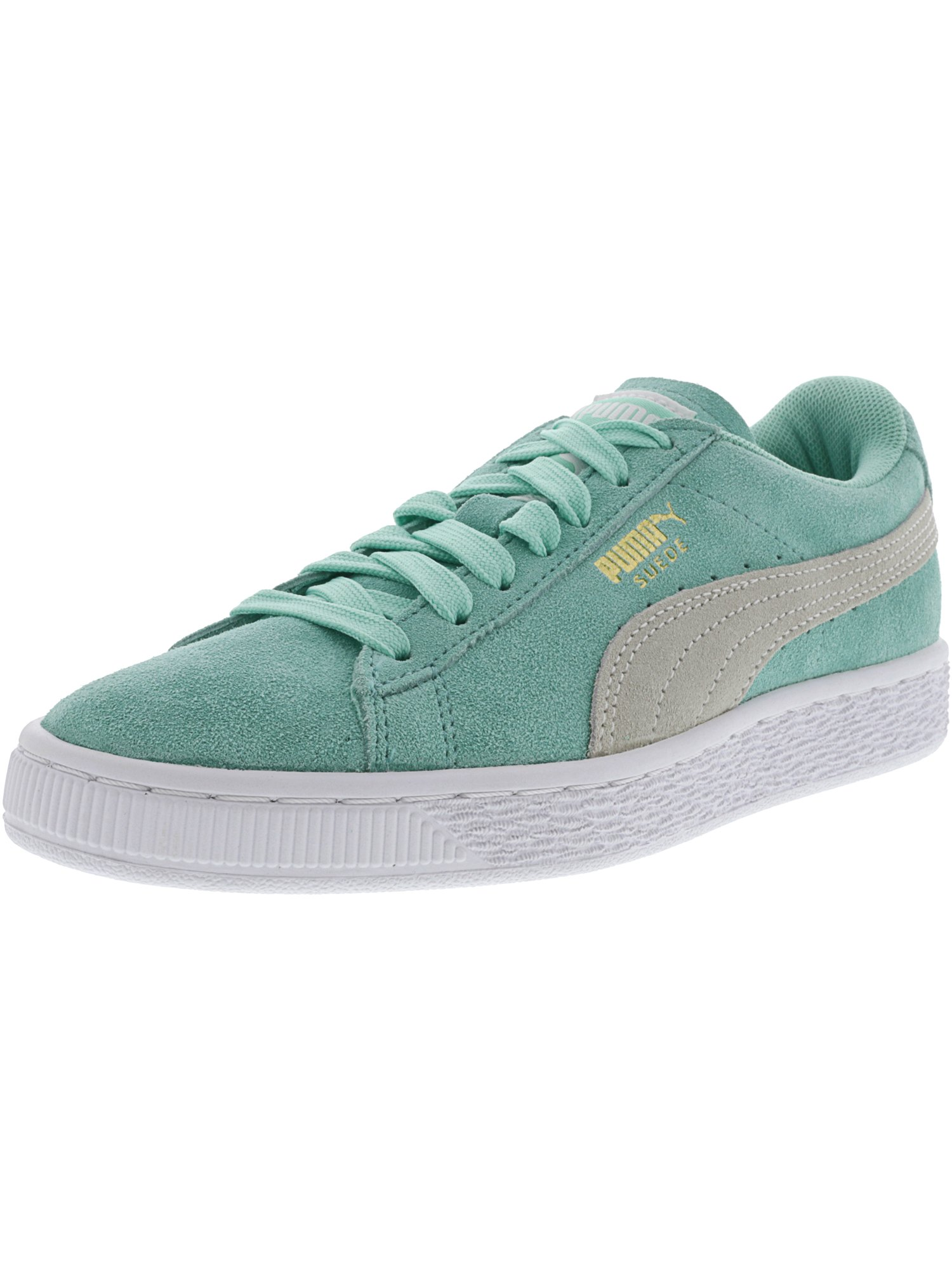 Puma Suede Classics Break Dancing Style Sneaker for Women - 6M - Holiday / White