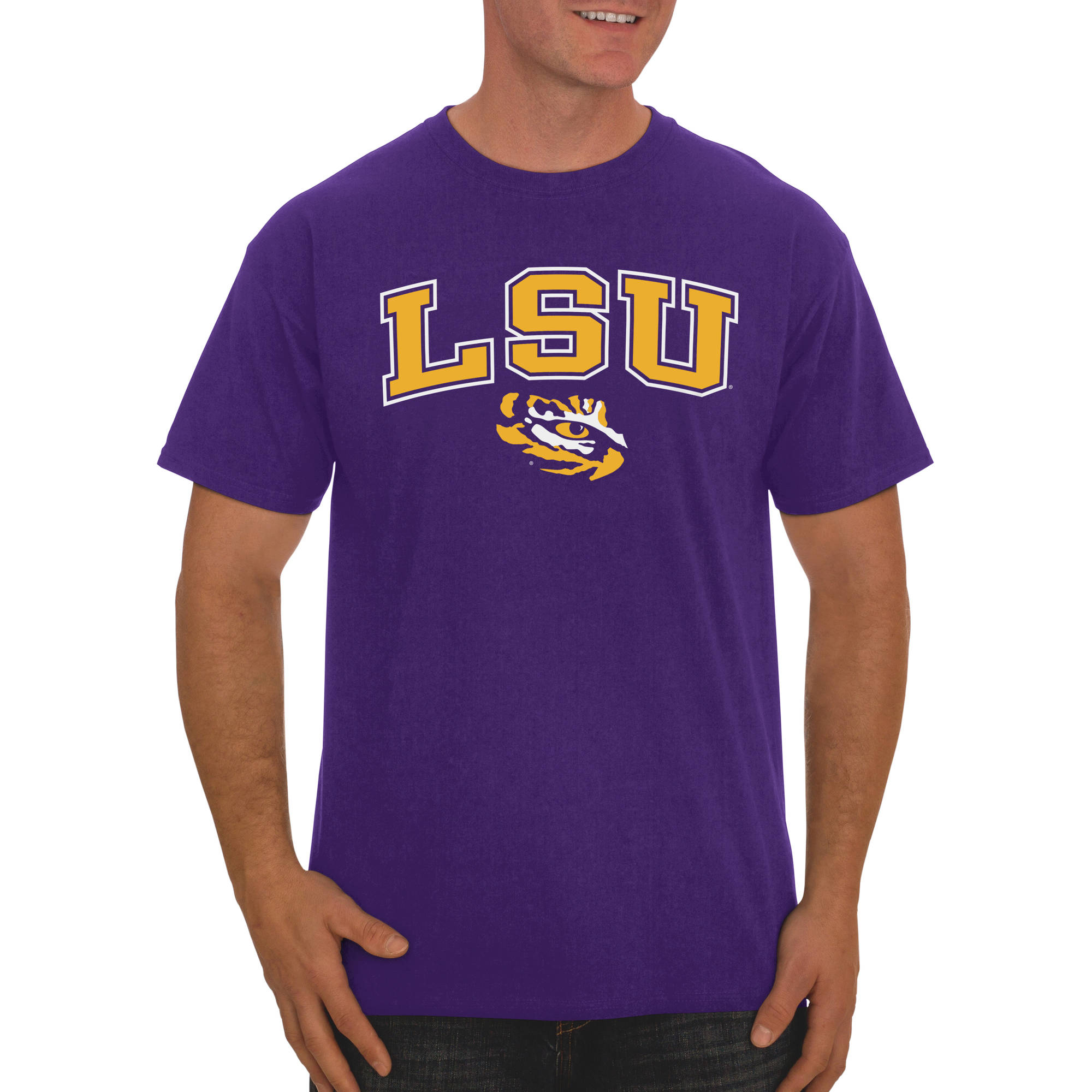 Russell NCAA LSU Tigers, Men's Classic Cotton T-Shirt