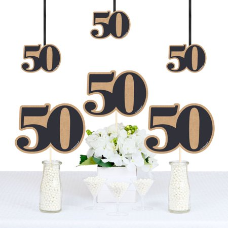 50th Milestone Birthday - Decorations DIY Party Essentials - Set of - 50th Birthday Milestone