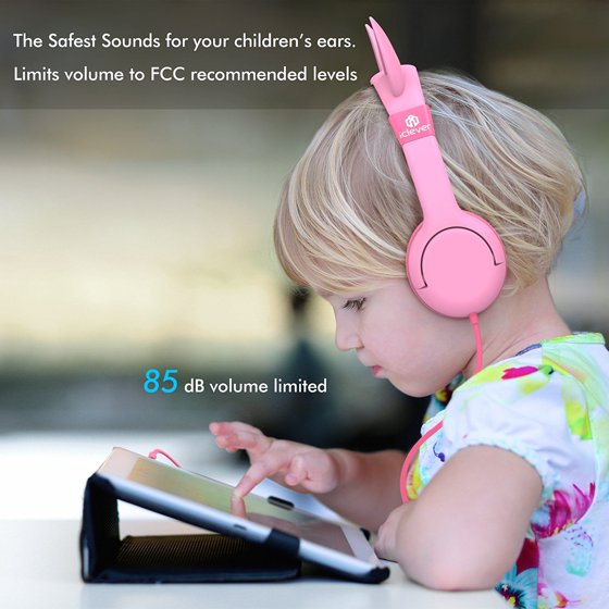 d3f699a3f4b iClever Kids Headphones Cat Over the Ear Headsets, Volume Limited Headphones  for Kids, Pink - Walmart.com