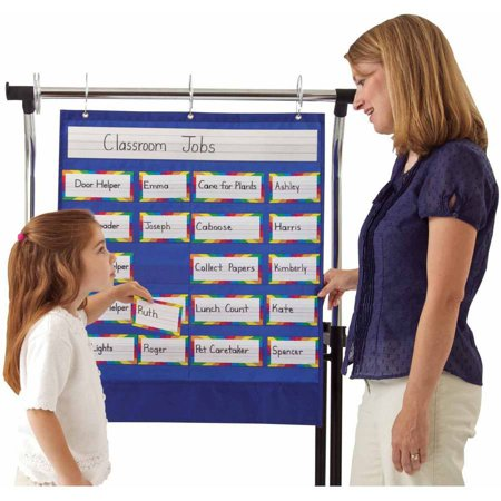 Carson Dellosa Classroom Helpers Pocket Chart, Includes Cards, 25.5