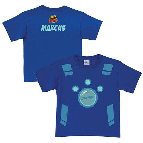 Personalized Wild Kratts Creature Power Suit Boys' Blue T-Shirt