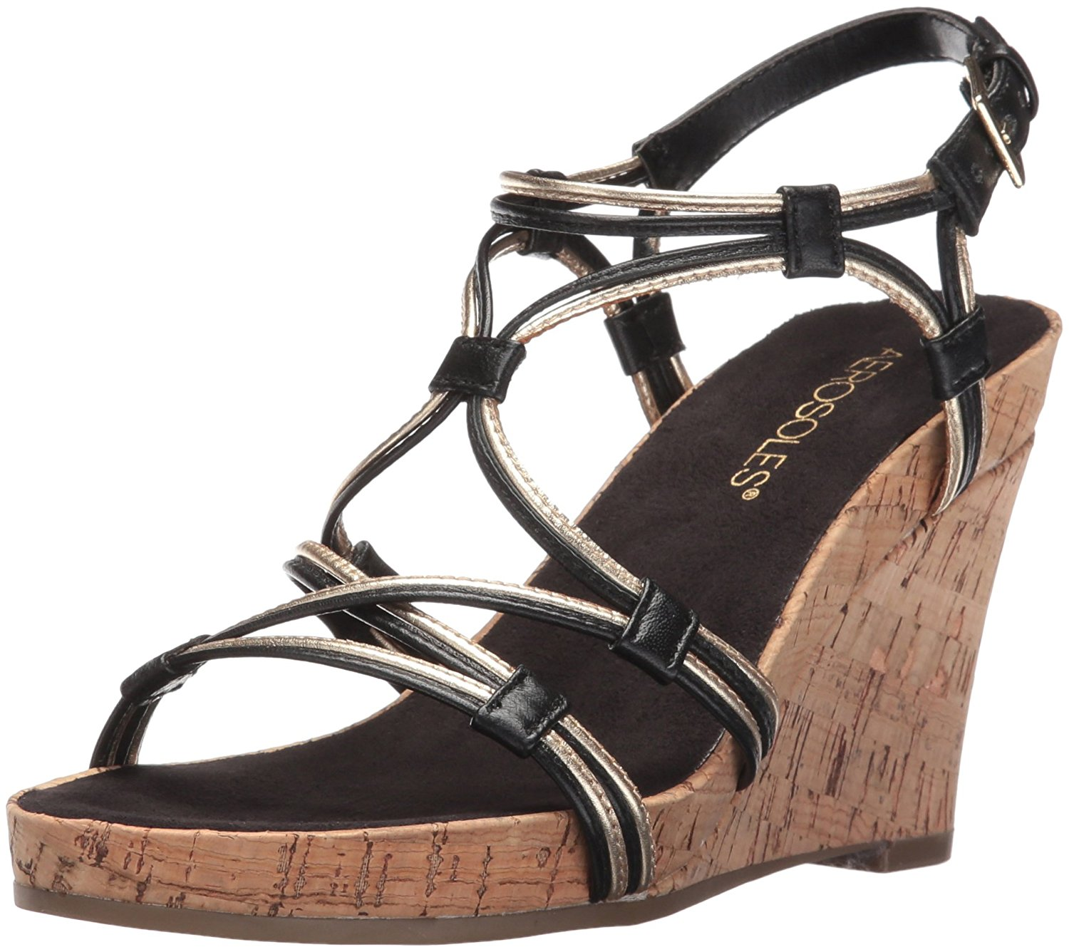 Aerosoles Womens Real Plush Leather Open Toe Casual Platform Sandals by Aerosoles