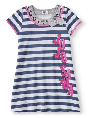 Jojo Siwa Striped 2-Fer French Terry Dress (Little Girls & Big Girls)