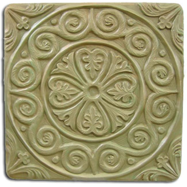 Garden Molds X-MEDTIL8049 Medieval Tile Stepping Stone Mold- Set of 2