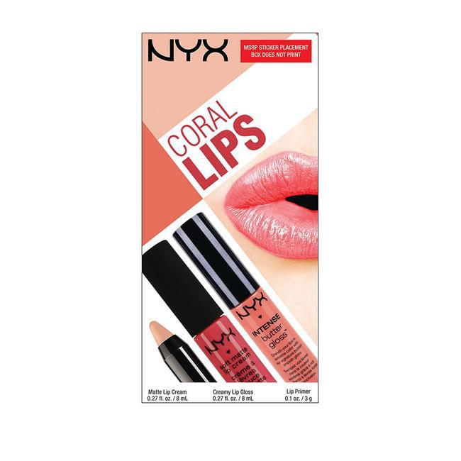 NYX NYX4 Coral Lips Set