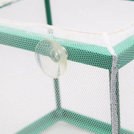 2pcs Net Séparation Isolement Obtenteur Vert Conteneur 6.7x5x5.9Pouces Aquarium - image 2 de 3
