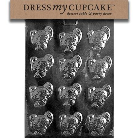 Dress My Cupcake DMCT003 Chocolate Candy Mold, Small Turkeys, Thanksgiving - Halloween Candy Bar Cupcakes