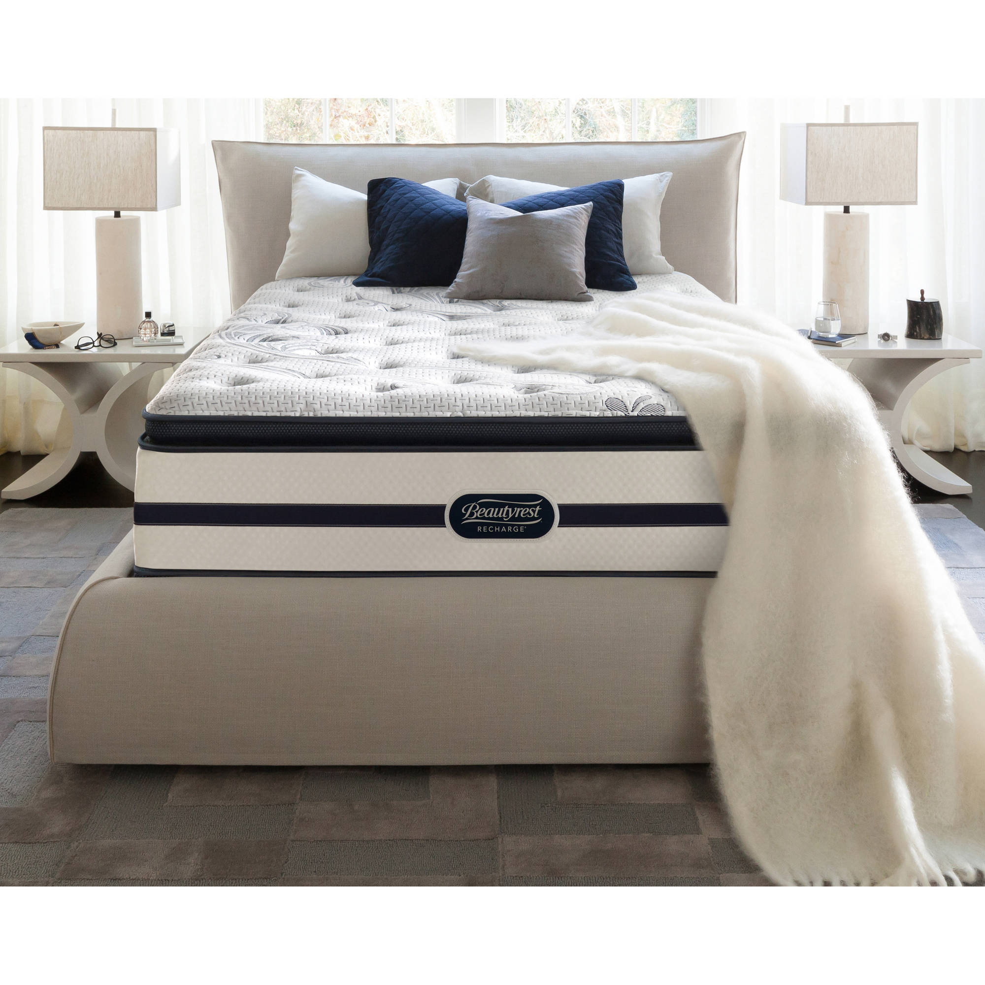 "Beautyrest Recharge Enchanting Nights 14"" Plush Pillowtop Mattress, Multiple Sizes"
