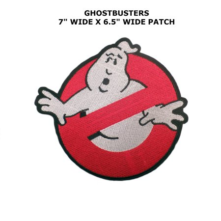 Ghostbusters NO GHOST Logo Iron/Sew On Embroidered Patch By Superheroes - Ghostbusters Logo Patch