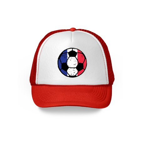 8307a898556 Awkward Styles France Soccer Ball Hat French Soccer Trucker Hat France 2018 Baseball  Cap France Trucker Hats for Men and Women Hat Gifts from France French ...