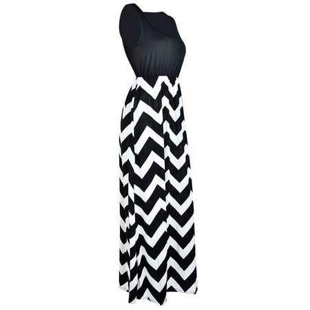 862a5d76415a Sexy Dance - Plus Size Womens Long Maxi Dresses Wave Striped Sleeveless  Casual Loose Summer Beach Sundress Party Cocktail - Walmart.com