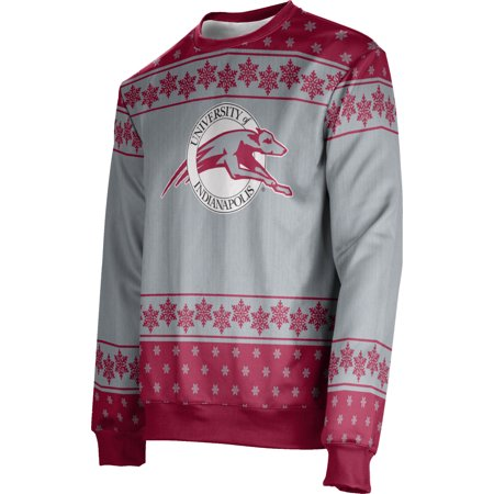 Men's University of Indianapolis Ugly Holiday Snowflake Sweater (Apparel)