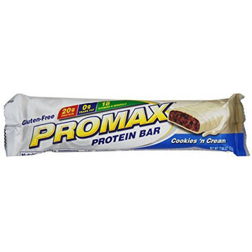 Promax Cookies 'n Cream Protein Bar, 2.64 oz., (Pack of 12)