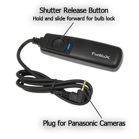 Fotodiox Camera Remote Shutter Release Cable 1P, for Panasonic Lumix DMC-G1, G2, G3, G10, GX1, GH1, GH2, GF1, DMC-L1, L10, DMC-FC100, FZ150, Fully Compatible with Panasonic DMW-RSL1, (Dmw Rsl1 Remote)