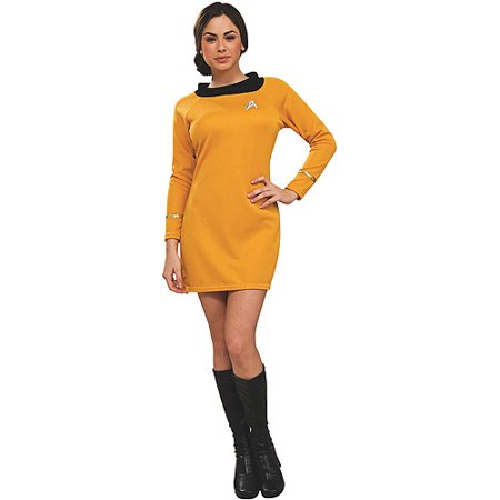 Star Trek Classic Deluxe Dress Adult Halloween Costume, Gold - Good Adult Costumes