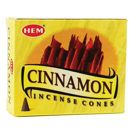 Money Incense (HEM Incense Cinnamon 10pk Cones Use in Purification or Money Drawing and Can Stimulate Emotions Prayer Meditation)