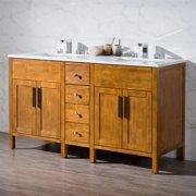 Stufurhome Evangeline 59 in. Double Sink Bathroom Vanity