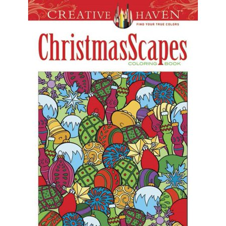 Creative Haven Christmasscapes Coloring - Halloween Coloring Sheet
