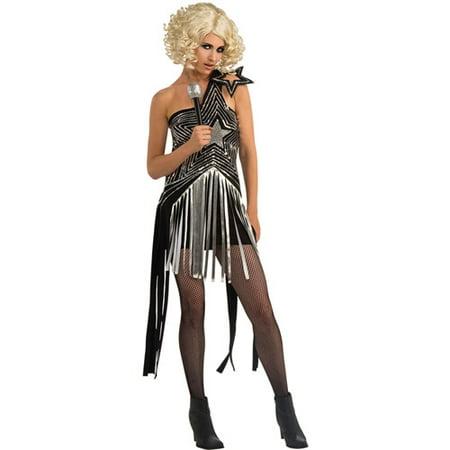 Lady Gaga Star Dress Adult Halloween - Gaga Costume