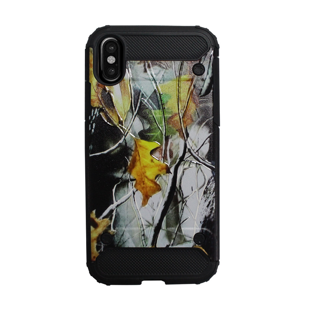 Mundaze Camo Woods Nature Design Duo Armor Case For Apple iPhone X Phone