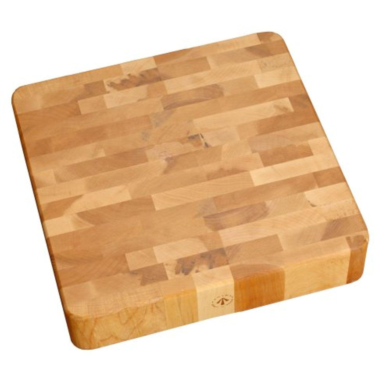 J.K. Adams 12-Inch Square End-Grain Chunk Board, Cherry