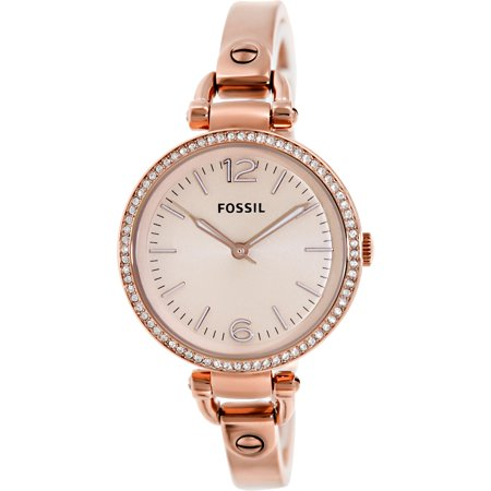 Fossil Women's Georgia ES3226 Rose-Gold Stainless-Steel Analog Quartz Watch
