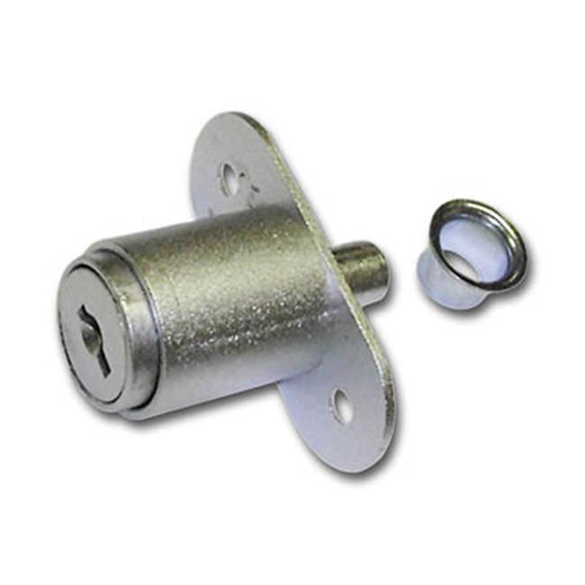 National Lock N8043 26D 642 Key 642 Disc Tumbler Plunger Lock - Dull Chrome