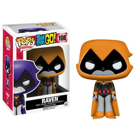 Funko Pop! TEEN TITANS GO!: Raven #108 [Orange Hood] - Raven Hood