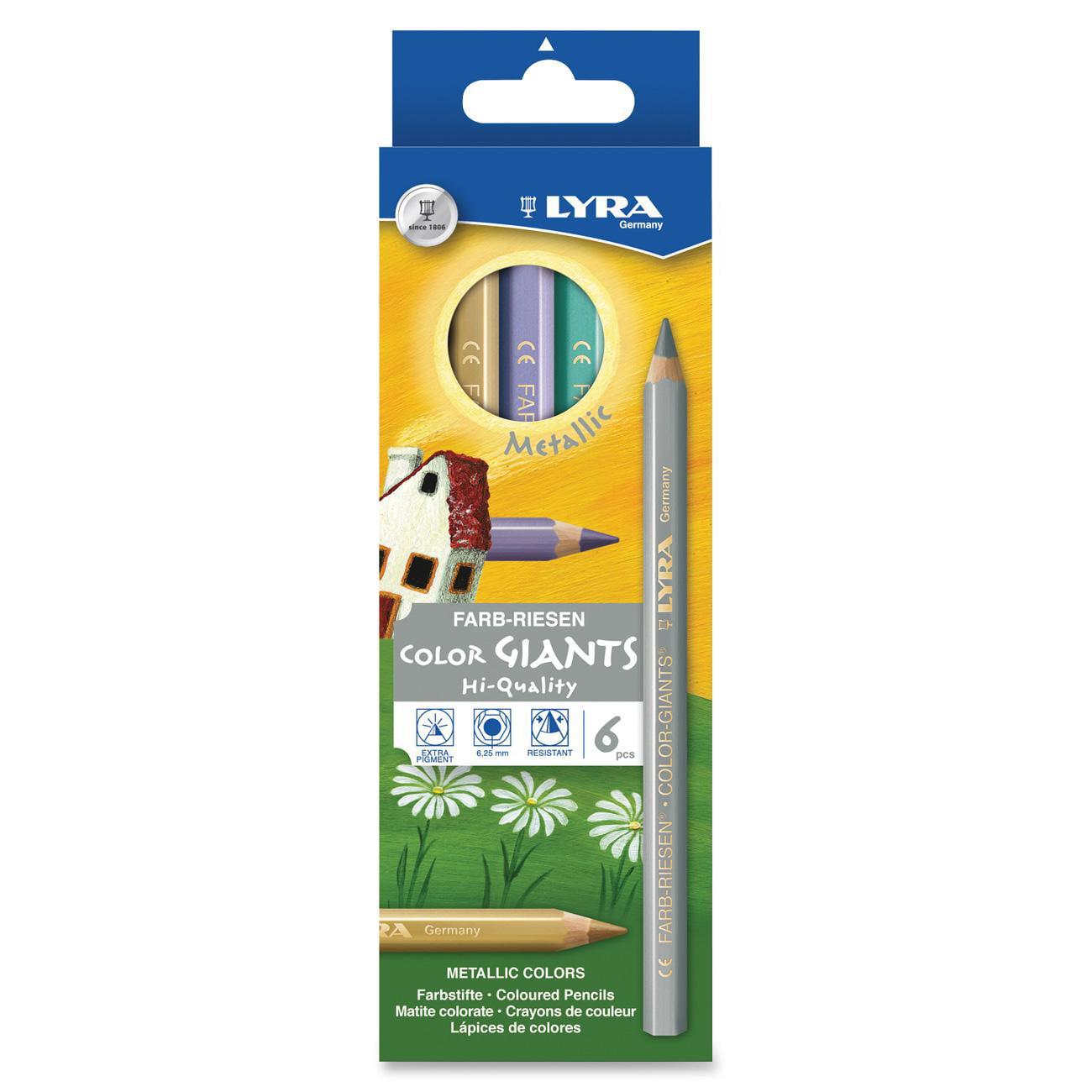 Dixon, DIX3941062, Color Giants Metallic Colored Pencils, 6 / Set