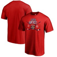 Florida Panthers Fanatics Branded Vintage Collection Line Shift Big and Tall T-Shirt - Red