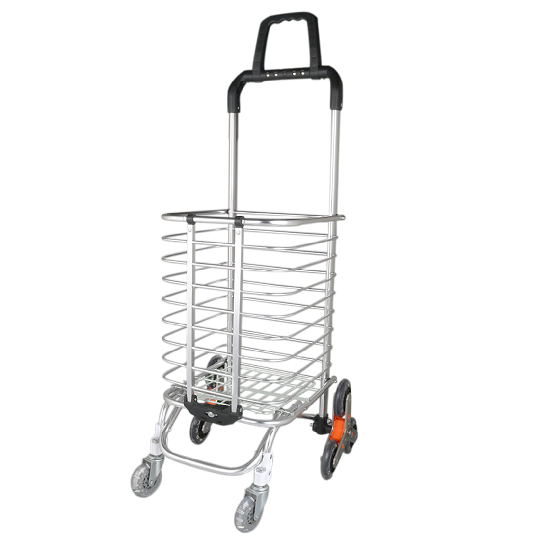 DEI QI Folding Shopping Cart Portable Foldable Utility Cart with Wheels Trolley Bags Utility Cart for Travel Shopping Laundry Book Luggage Color : Brown