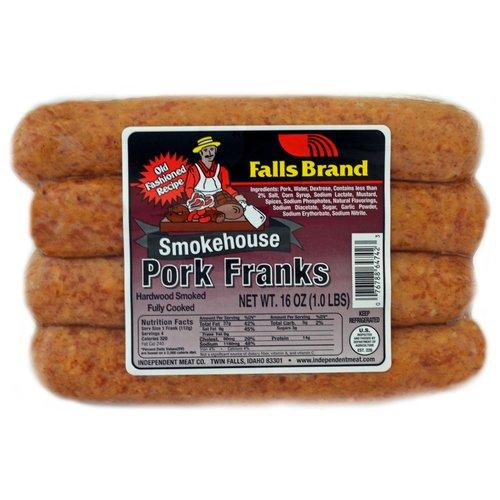 Falls Brand Smokehouse Pork Franks, 4 count, 16 oz