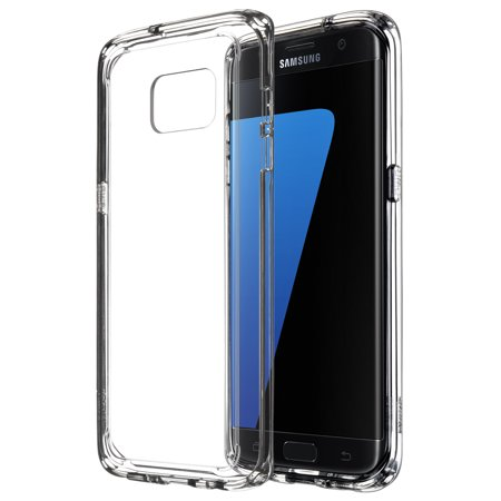 new product 34bc1 75b60 Galaxy S7 Edge Case, ULAK [CLEAR SLIM] Clear Transparent Case with Bumper  Shock Absorbing Design and Hybrid Scratch Resistant Back Cover for Samsung  ...