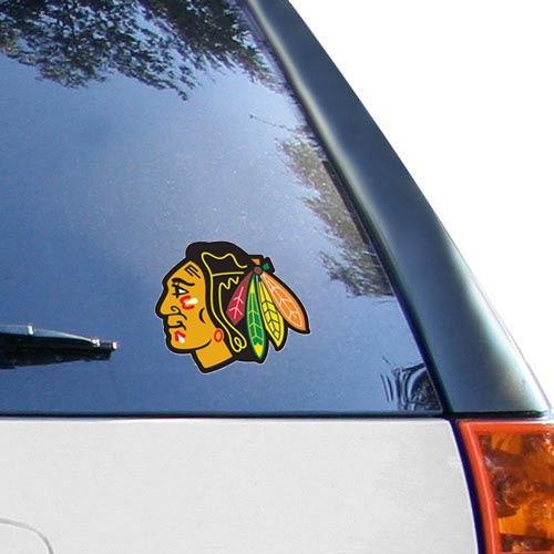 "Chicago Blackhawks WinCraft 4"" x 4"" Color Perfect Cut Decal - No Size"