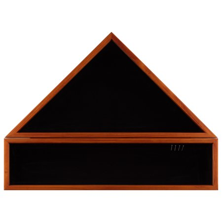 Gallery Solutions 20x27 Solid Wood Military Flag Award and Medal Display Case