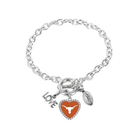 Texas Longhorns Bracelet Charmed Sport Love