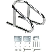 """Extreme Max 5001.5763 Deluxe Chrome Motorcycle Wheel Chock - 5.5"""" Wide"""