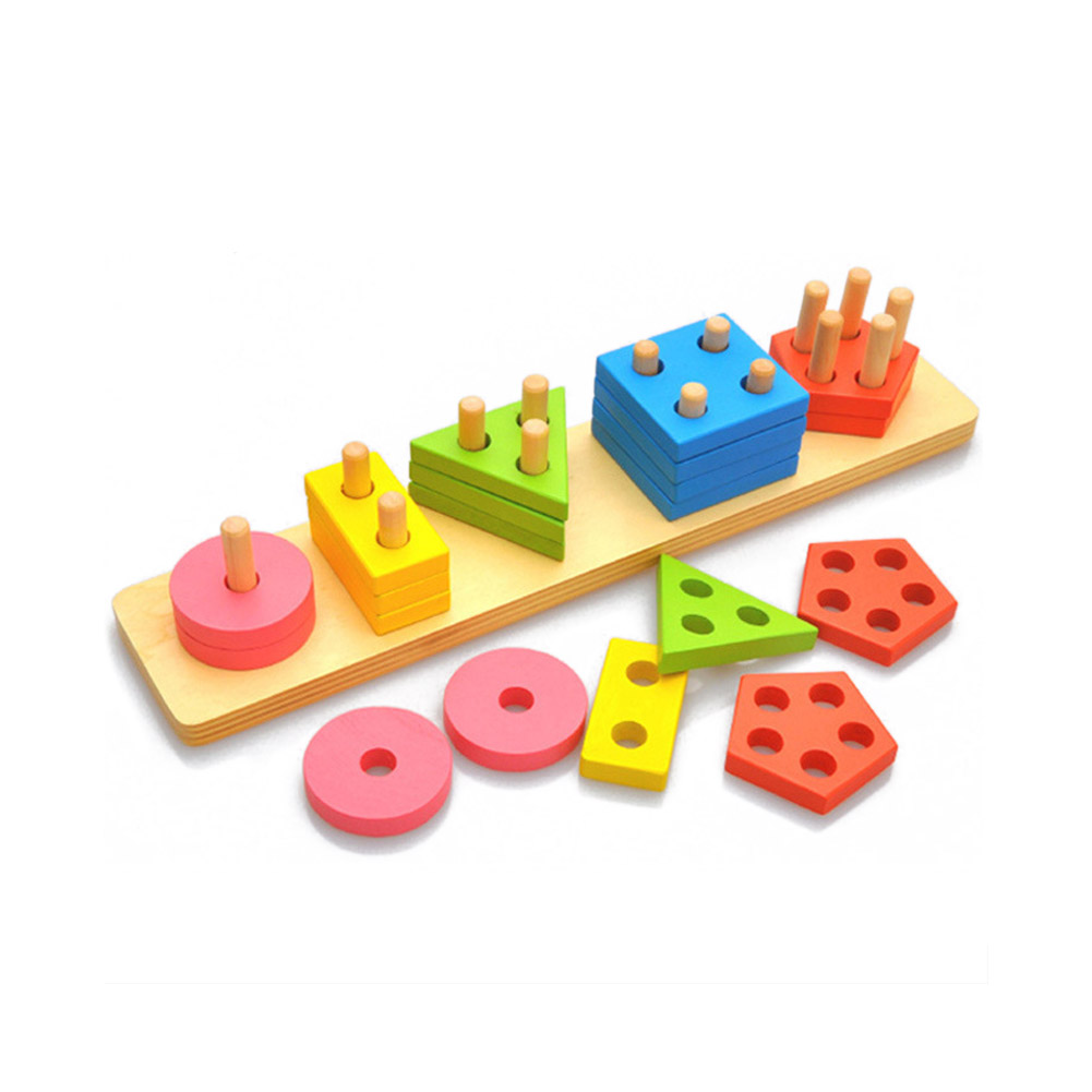 Wooden Sorting & Stacking Toys for Toddlers, Educational ...