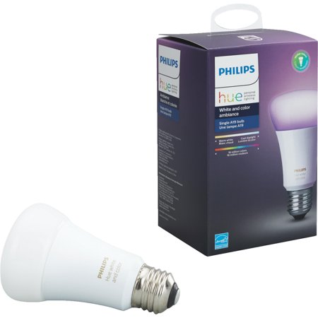 Philips Hue White & Color Ambiance A19 Medium Dimmable LED Light Bulb (California Only)